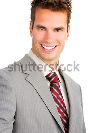 üzletember fiatal mosolyog izolált fehér mosoly Stock fotó © Kurhan