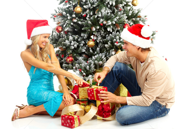 Christmas couple Stock photo © Kurhan