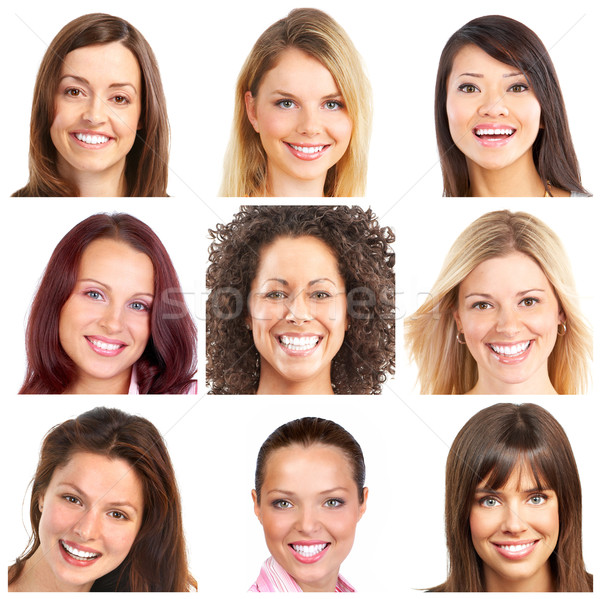 faces, smiles and teeth Stock photo © Kurhan