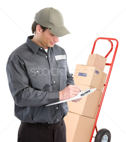 Delivery worker Stock photo © Kurhan