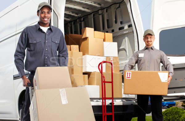 Delivery man near shipping truck. Stock photo © Kurhan