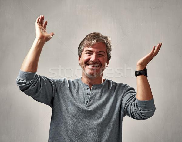 joyful man Stock photo © Kurhan