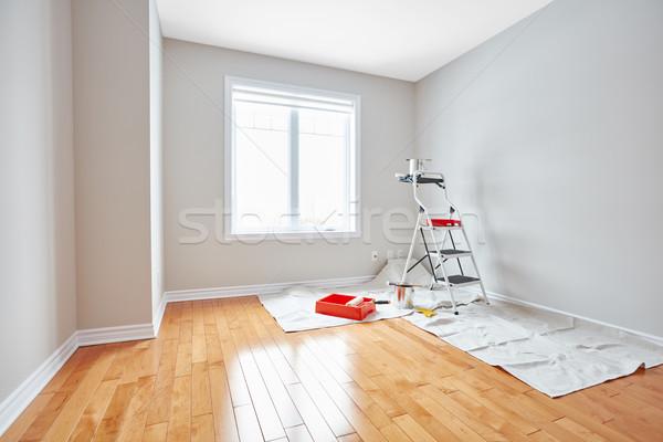 Ház rendbehoz festmény szerszámok modern szoba Stock fotó © Kurhan