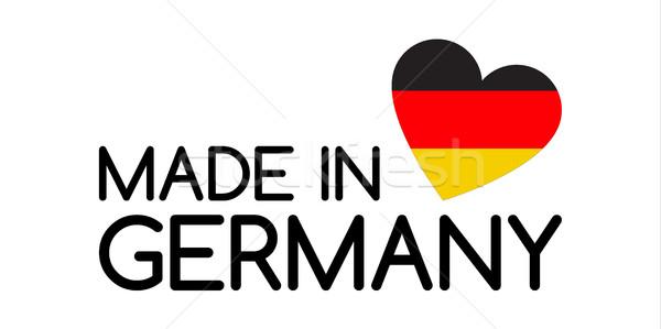 Niemcy symbol serca kolory tricolor tle Zdjęcia stock © kurkalukas