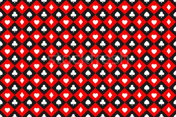 Stockfoto: Naadloos · abstract · vector · poker · speelkaarten · borden
