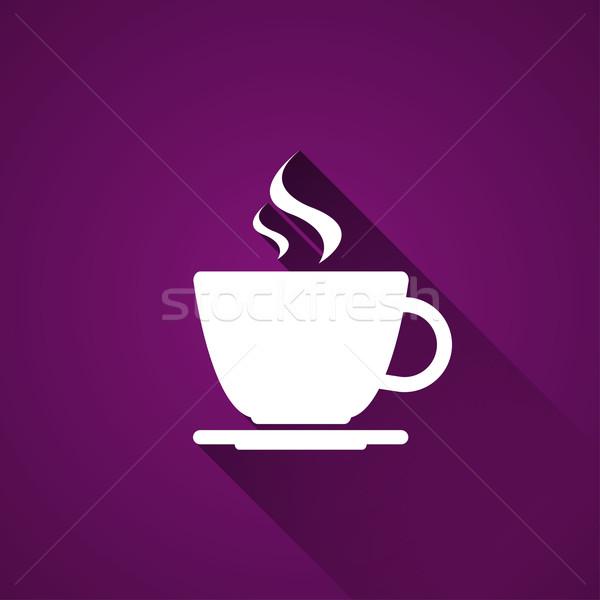 Кубок кофе Purple простой вектора икона Сток-фото © kurkalukas