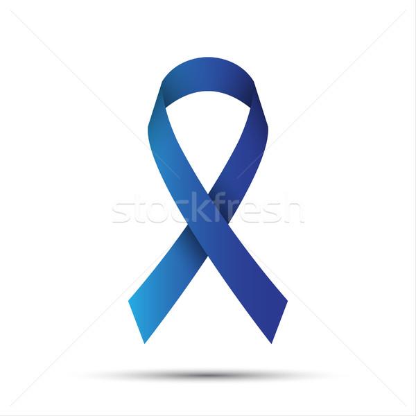 Mavi şerit yalıtılmış beyaz tıp destek Stok fotoğraf © kurkalukas