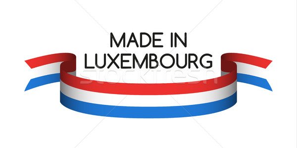 Colored ribbon with the Luxembourg tricolor, Made in Luxembourg  Stock photo © kurkalukas