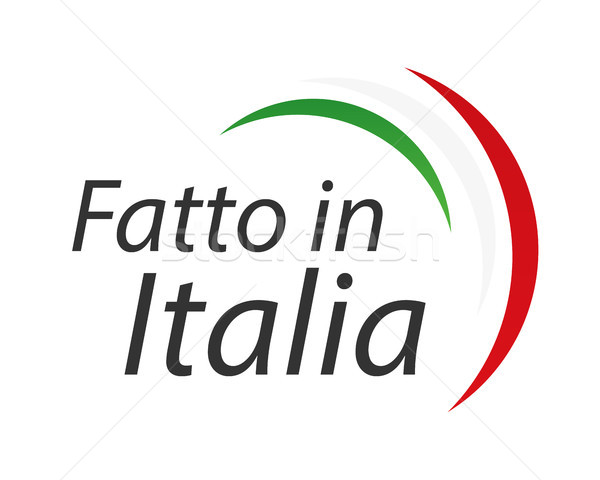 Made in Italy, In the Italian language - Fatto in Italia, simple vector symbol with Italian tricolor Stock photo © kurkalukas