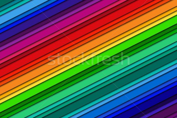 Abstract background with rainbow colors, oblique lines, color crayons. colorful vector illustration Stock photo © kurkalukas