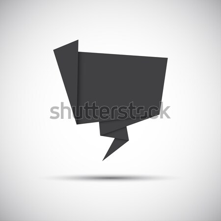 Photo stock: Simplement · gris · papier · origami · icône · site