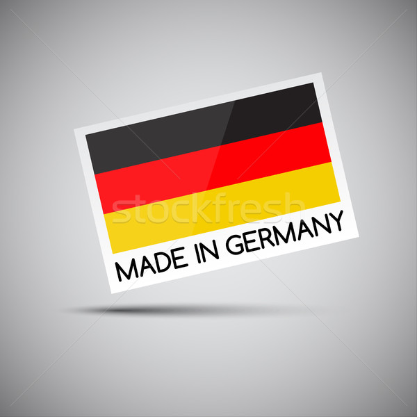 Vector card Made in Germany with German flag, vector illustration for you business Stock photo © kurkalukas