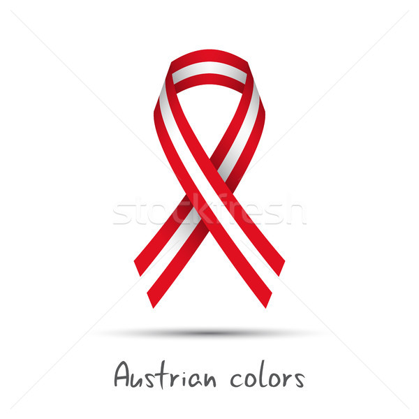 Modern colored vector ribbon with the Austrian colors isolated on white background, abstract Austria Stock photo © kurkalukas