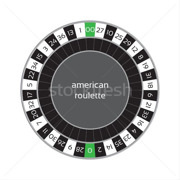 Americano rueda de la ruleta aislado blanco diseno mesa Foto stock © kurkalukas