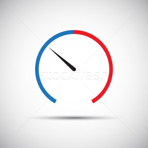 Basit termometre ikon mavi bahar dizayn Stok fotoğraf © kurkalukas