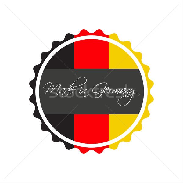 Almanya simge etiket vektör yalıtılmış beyaz Stok fotoğraf © kurkalukas
