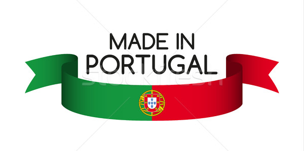Colored ribbon with the Portuguese colors, Made in Portugal symb Stock photo © kurkalukas