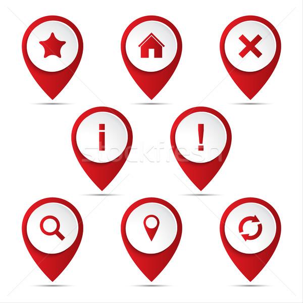 3D vecteur navigation icônes Photo stock © kurkalukas