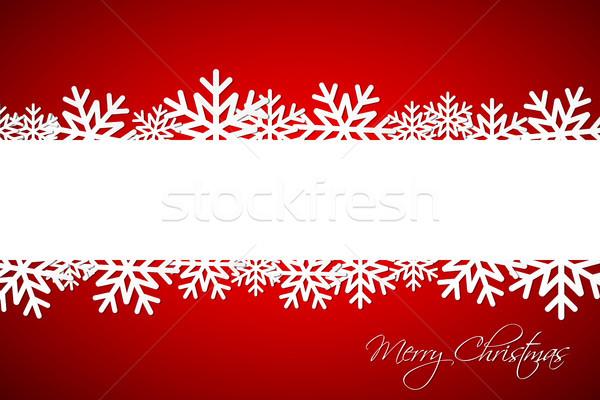 Witte christmas sneeuwvlok Rood ruimte wensen Stockfoto © kurkalukas