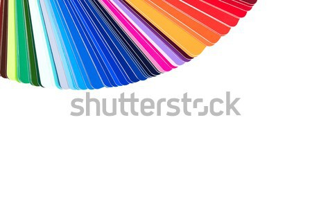 Couleur palette catalogue guider peinture Photo stock © kurkalukas