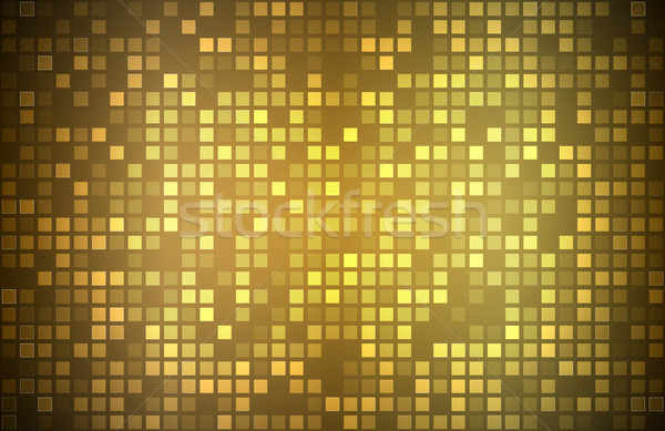 Modern golden abstract background with transparent squares, mosaic look, vector illustration Stock photo © kurkalukas
