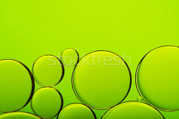 Olie druppels water bubbels groene abstract Stockfoto © kurkalukas