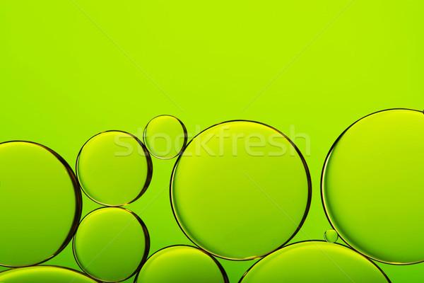 нефть капли воды пузырьки зеленый аннотация Сток-фото © kurkalukas