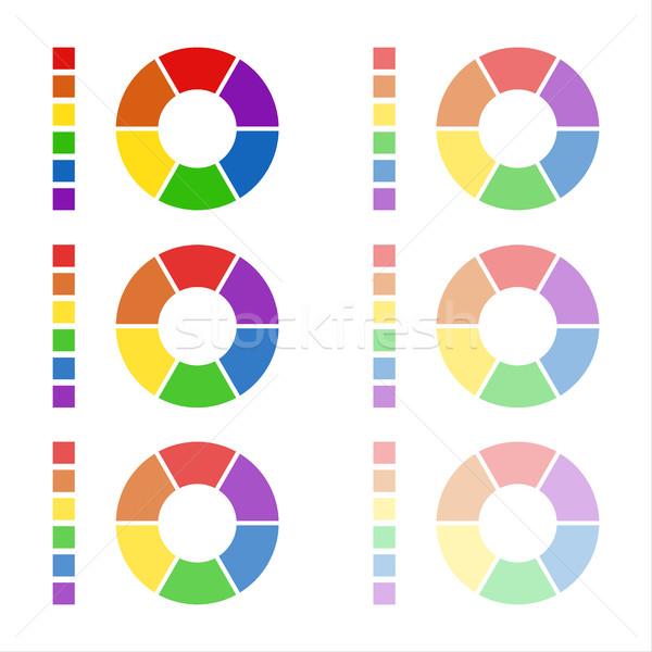 Gyűjtemény diagramok színek izolált fehér infografika Stock fotó © kurkalukas