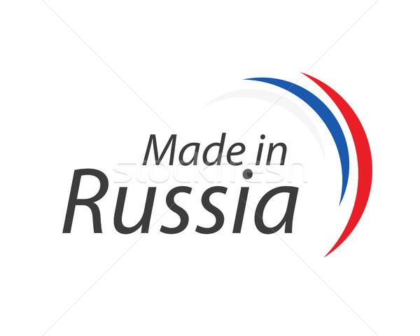 Россия простой вектора символ русский триколор Сток-фото © kurkalukas
