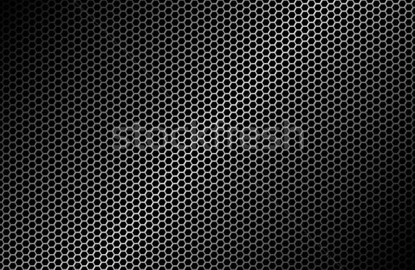 Meetkundig abstract zwarte metalen behang textuur Stockfoto © kurkalukas
