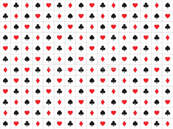 Oynama kart işaretleri kumarhane kalpler Stok fotoğraf © kurkalukas