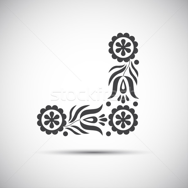 Stock photo: Traditional folk patterns, vector illustration of simple folk symbol