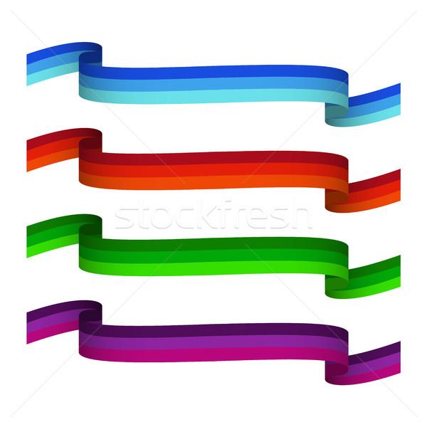Ingesteld driekleur vector geïsoleerd witte Stockfoto © kurkalukas