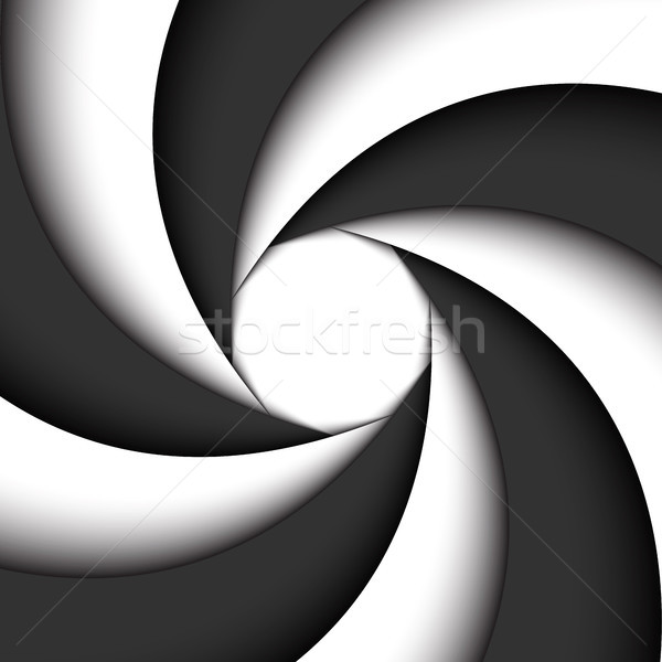 Donkergrijs witte moderne swirl abstract vector Stockfoto © kurkalukas
