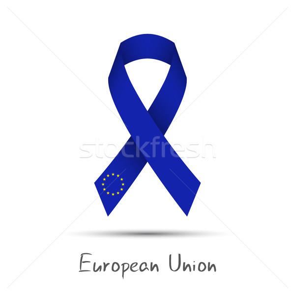 Modernes vecteur ruban européenne Union Photo stock © kurkalukas