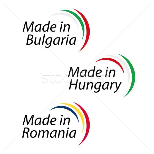 Zdjęcia stock: Proste · logos · Bułgaria · Węgry · Rumunia · wektora