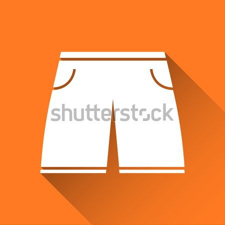 Simple icon of long men's swimming suit, vector illustration Stock photo © kurkalukas