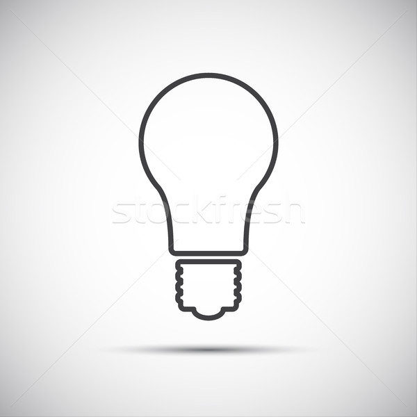 Light bulb line vector icon isolated on white background Stock photo © kurkalukas