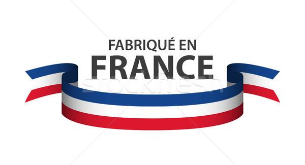 Francja kolorowy wstążka francuski tricolor odizolowany Zdjęcia stock © kurkalukas