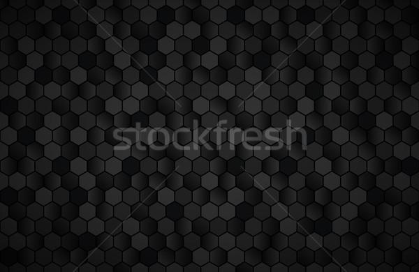 Geométrico resumen negro metálico wallpaper textura Foto stock © kurkalukas