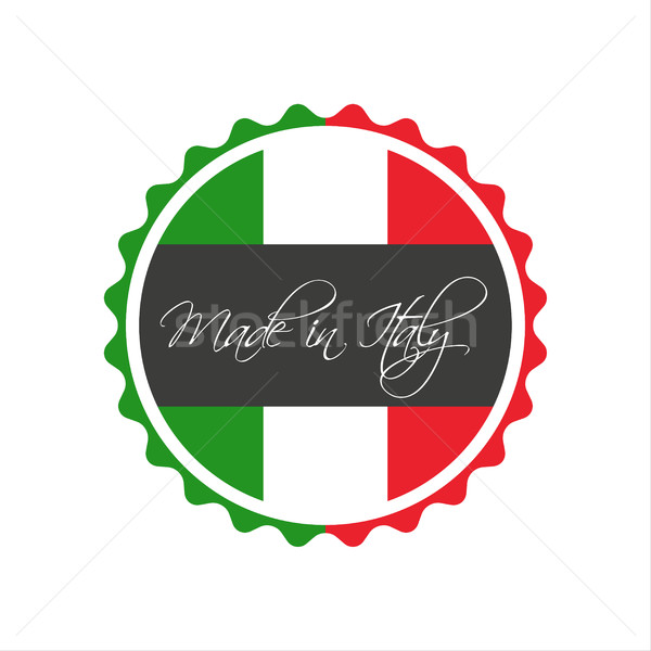 Stock photo: Made in Italy symbol, italian sticker, vector symbol isolated on