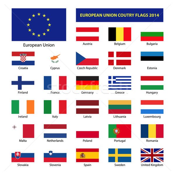 European Union country flags 2014, member states EU Stock photo © kurkalukas