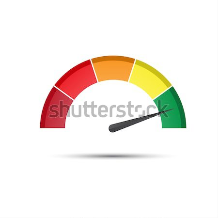 Color tachometer with a pointer in the green part, speedometer a Stock photo © kurkalukas