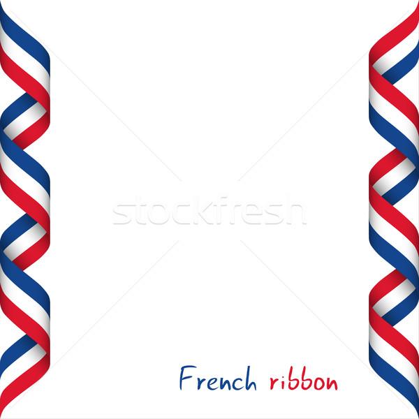 лента французский триколор символ флаг Сток-фото © kurkalukas