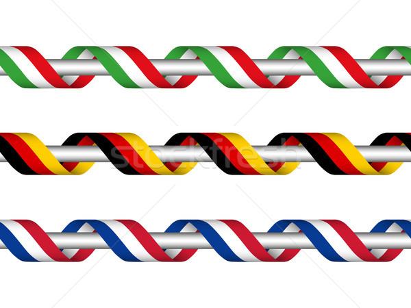 лента итальянский французский триколор символ Сток-фото © kurkalukas