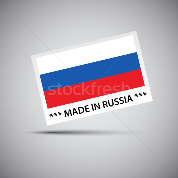 Vector card Made in Russia with Russian flag, vector illustration for you business  Stock photo © kurkalukas