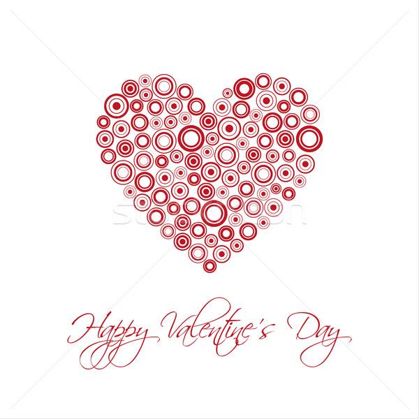 Heureux saint valentin carte résumé coeur Photo stock © kurkalukas