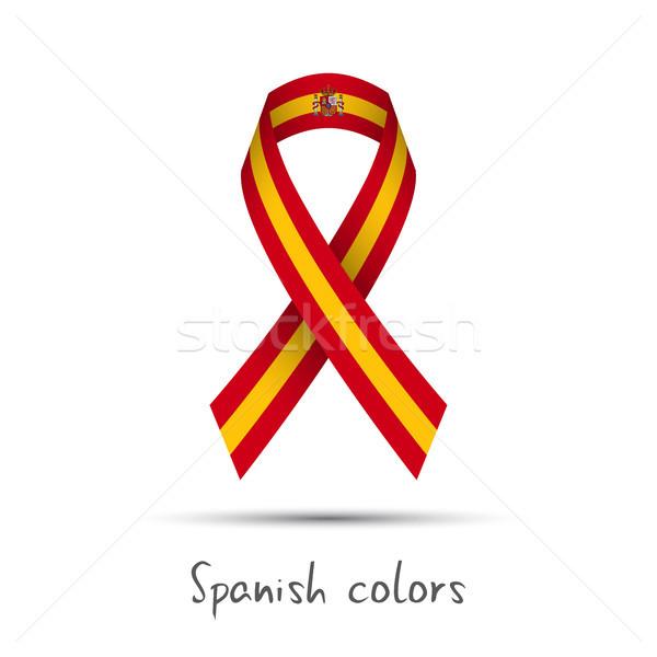 Moderne gekleurd vector lint spaans kleuren Stockfoto © kurkalukas