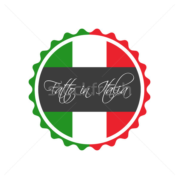 Made in Italy symbol, In the Italian language - Fatto in Italia, italian sticker, vector symbol isol Stock photo © kurkalukas