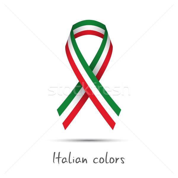 Moderna vector cinta italiano tricolor Foto stock © kurkalukas